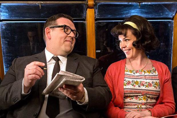 Nick Frost and Olivia Colman in Mr Sloane