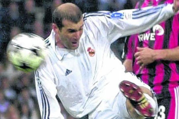 Zidane's volley at Hampden defined a stellar career. Picture: James Galloway