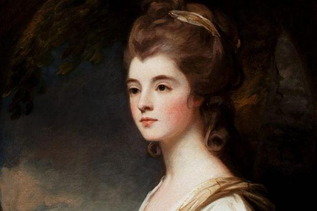 Left, a portrait of the Duchess of Sutherland in her younger days. Below left, a detail from The Last Of The Clan by Thomas Faed, depicting the misery of the Highland Clearances
