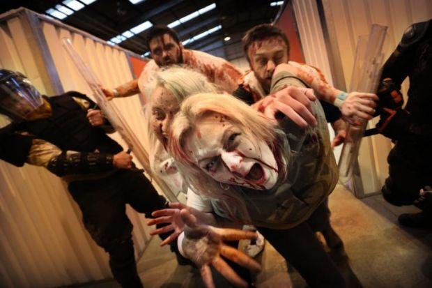 2.8 Hours later hits the streets of Edinburgh as zombies take over Bankhead industrial estate on the outskirts of the city Photograph:Stewart Attwood