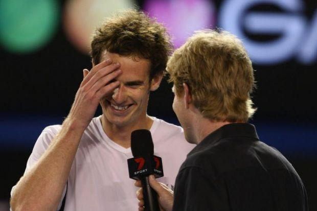 Jim Courier, left, has endorsed Andy Murray's chances at the French Open but he has not been asked to become the Scot's coach. Picture: Getty Images