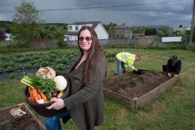 FRESH THINKING: Reeni Kennedy-Boyle, manager at Fyne Futures, which helps involve schools in fruit and vegetable sourcing. Picture; Nick Ponty
