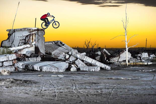 Danny MacAskill performs world's first front bump flip trick in new riding film