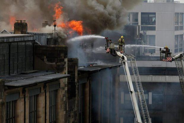 PROTECTING A LEGACY: The fire at Glasgow School of Art raised questions about why a sprinkler system had not been installed in its treasured Mackintosh Building. Steven Camley is away