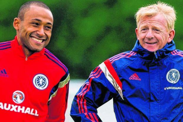 Gordon Strachan has introduced Ikechi Anya, left, to an improving Scotland squad. Picture: SNS