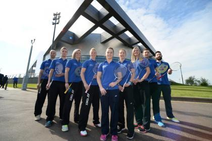 Team Scotland badminton squad. Picture by Nick Ponty