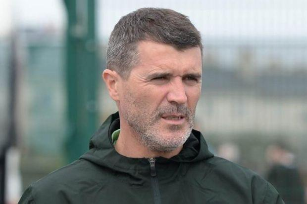 Roy Keane at the Republic of Ireland's training session yesterday