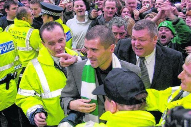 Keane is ushered through the doors at Celtic Park amid jubilant scenes, now Ce
