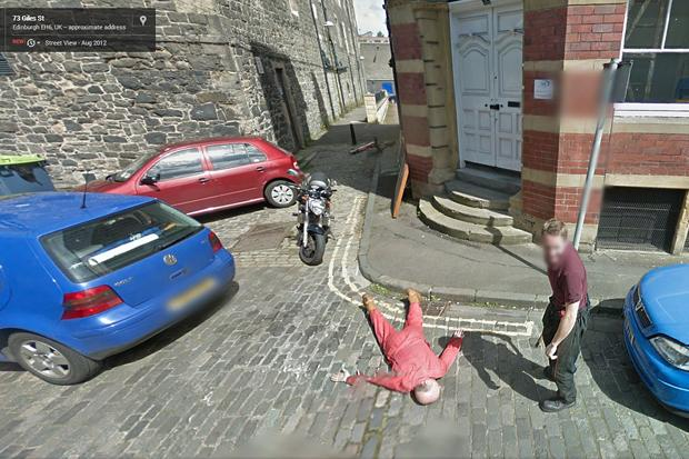 Police called after Google Street View captures images of fake murder in Edinburgh