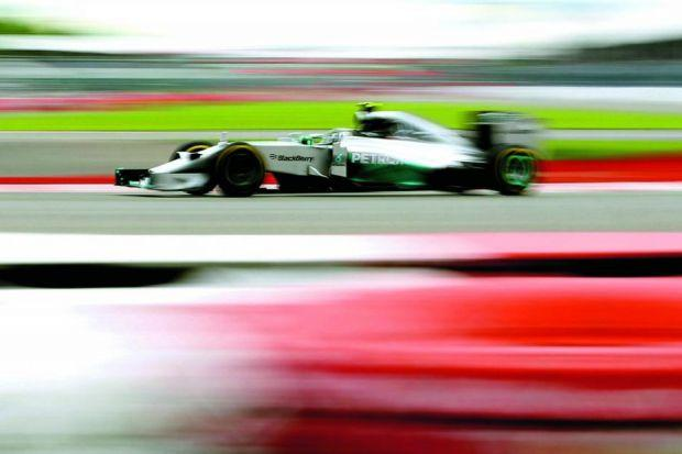 Nico Rosberg pulled one out of the hat to stop his team-mate leading the fieldPhotograph: Getty