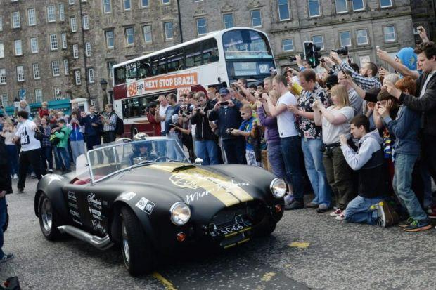 STARS: The cars stole the show as the rally came to Edinburgh.