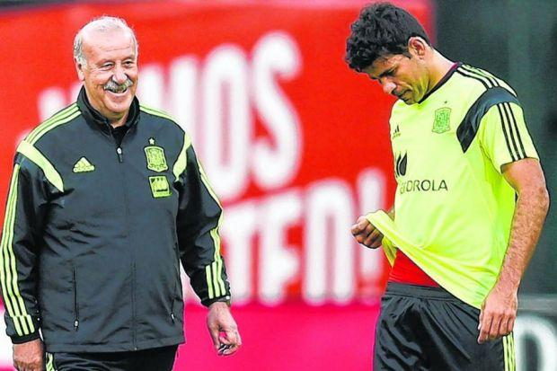 The fitness of Diego Costa is a problem for Spain's head coach, Vicente Del Bosque. Picture: Getty Images