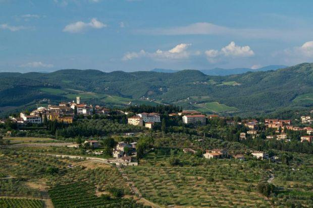 The reward for walking from Badiaccia a Montemuro to the town of Radda lies in the chance to reflect and savour the Tuscan countryside. Photograph: Christopher Salerno/Shutterstock