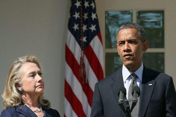 ALLIES:  US President Barack Obama and his former Secretary of State Hillary Clinton have both spoken out in support of the Union. Picture: Getty