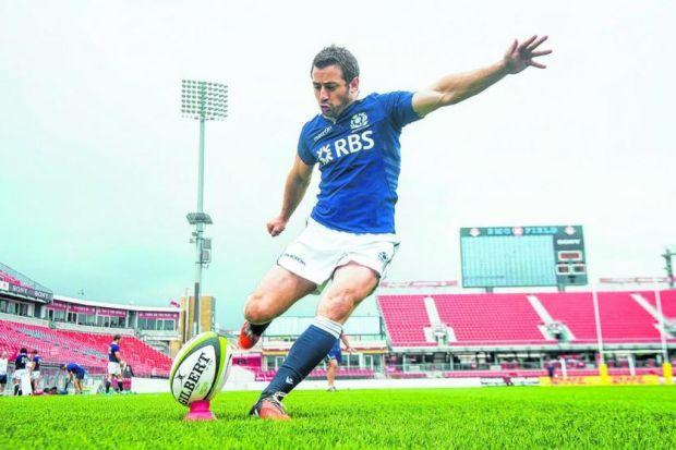Scotland captain Greig Laidlaw in training ahead of the Test against Canada. Picture: SNS