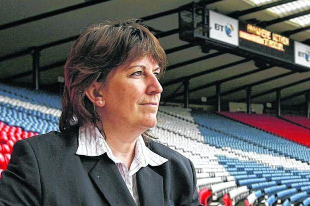 Sheila Begbie, after overseeing an upsurge in womens' football  in Scotland, is off to  try to do something similar for rugby. Picture: Colin Mearns