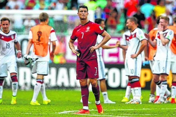 One man band, but Cristiano Ronaldo could not inspire victory. Picture: Getty Sport