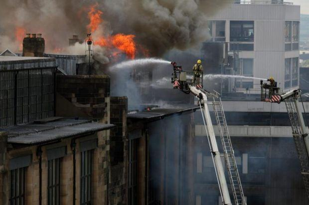 fighting the flames: Great work by firefighters saved more than 90% of the building structure.