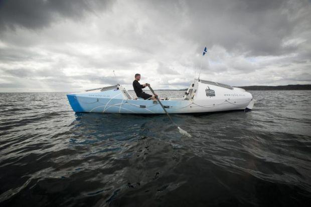 PLEA: Mr Macdonald in his 24ft boat.