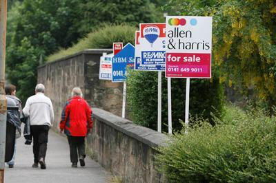 Scottish recovery threatened by London housing market