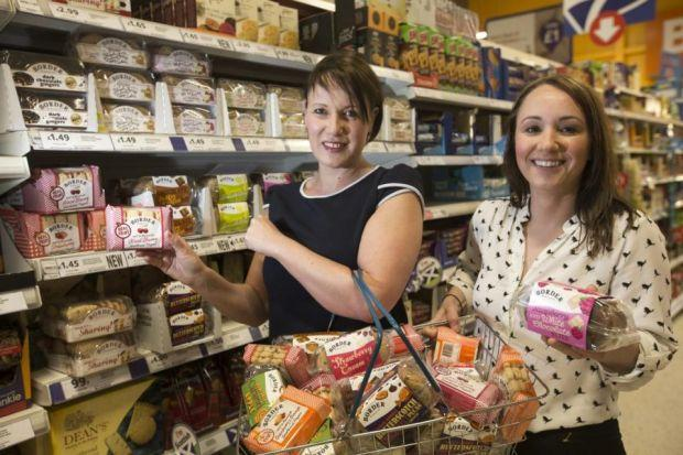 Deal: Tesco's Ashley Connolly and Jill Sutherland, from Border Biscuits, showing off the new range which is available in stores across Scotland.