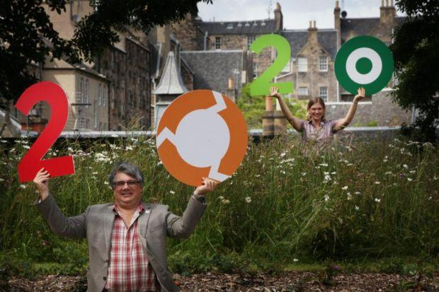 VISION: Ian Marchant, of SSE, and Victoria Barby launched the 2020 climate campaign at the Environmental Carbon Capture Centre, Edinburgh.