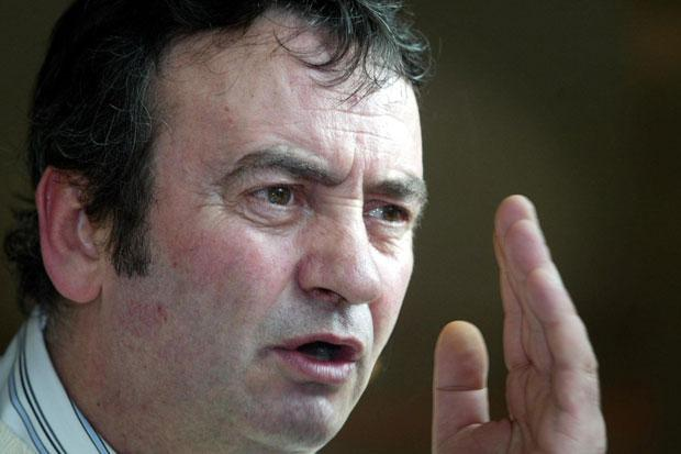 Gerry Conlon speaking at the SDLP party conference in Londonderry