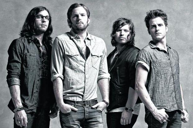 KINGS OF LEON: The band delivered a solid set full of mid-tempo rockers, with each song sounding almost identical to their original recordings.