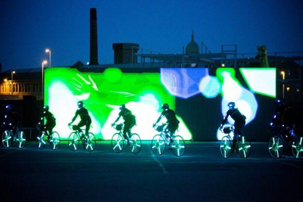 BRIGHT LIGHTS: The project using cyclists builds on the successful Speed Of Light work and will be shown on the opening day of the Tour de France.