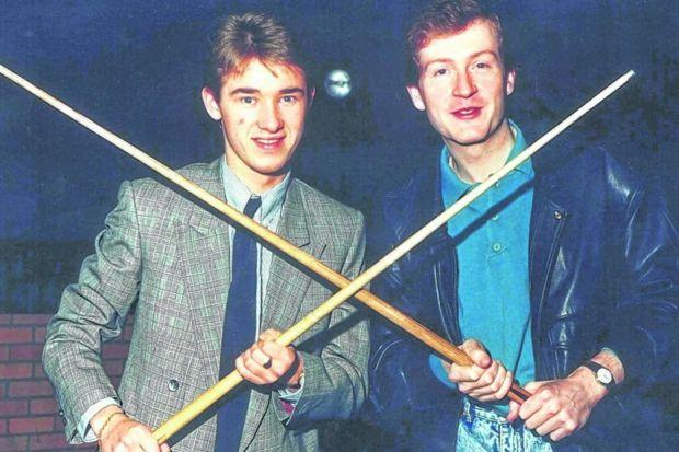 Stephen Hendry and Steve Davis have won 13 world titles between them. Picture: Newsquest