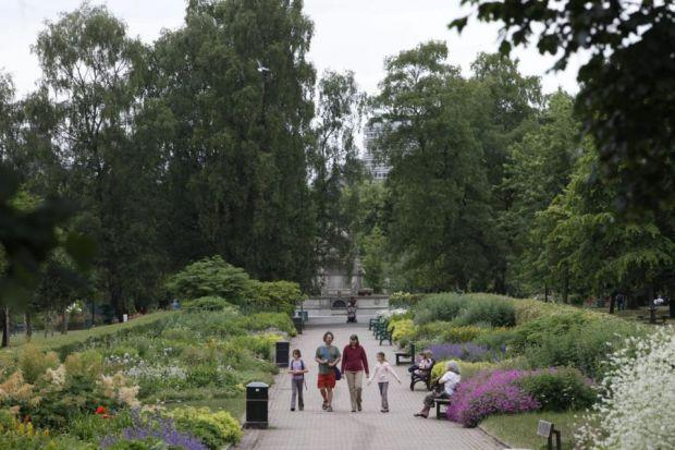 under THREAT: Green spaces such as Kelvingrove Park are popular with the public, but the Heritage Lottery Fund says councils need to invest more in their maintenance . Picture: Martin Shields