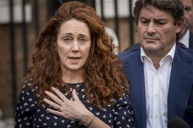 difficult time: Rebekah Brooks said her thoughts were will colleagues who faced further trials. Picture: Getty