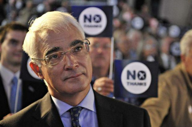 Alistair Darling: 'anytime, anywhere' ... just not then and not there
