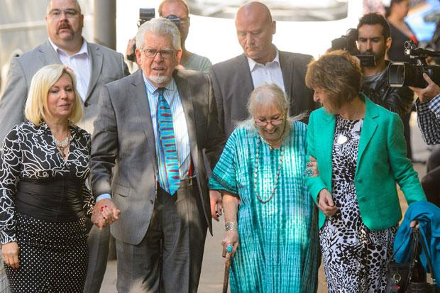 Harris arriving with daughter Bindi (left), wife Alwen and niece Jenny at Southwark Crown Court