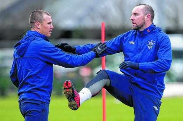 Kenny Miller and Kris Boyd will combine again for Rangers in the SPFL Championship. Picture: SNS