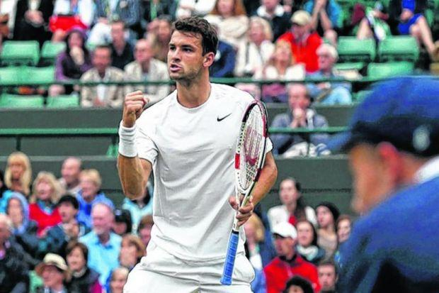 ON THE ATTACK: Dimitrov will play aggressively against Murray. Picture: Reuters