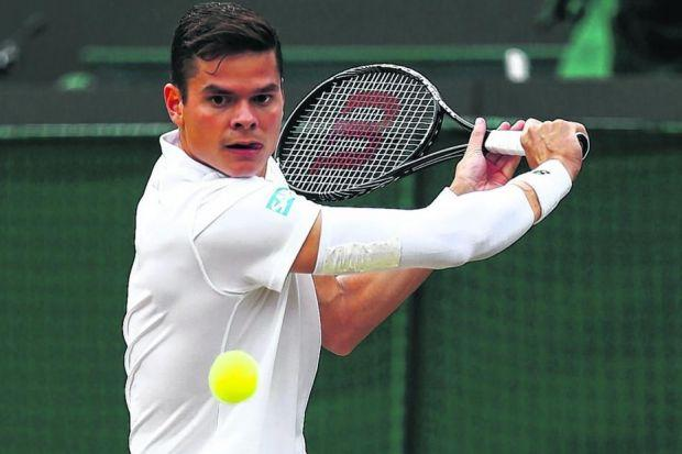 Milos Raonic has taken encouragement from his previous matches against Roger Federer. Picture: Getty Sport