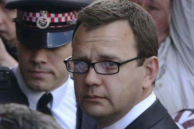 JAILED: Former tabloid editor Andy Coulson arrives at the Old Bailey for sentencing. Picture: Neil Hall