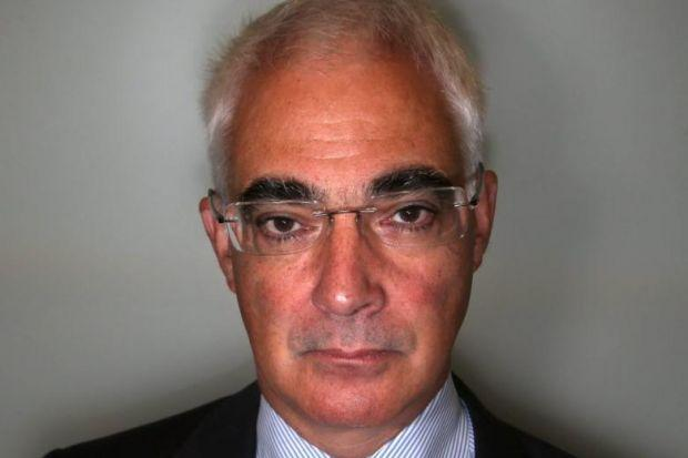 Alistair Darling was supported by embassy staff on a visit to America