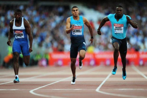 Adam Gemili's switch from football to the track was a journey into the unknown Photograph: Getty