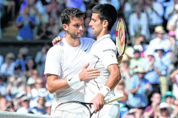 Gregor Dimitrov could not beat Novak Djokovic, but he looks the most capable of the young guns. Picture: Reuters