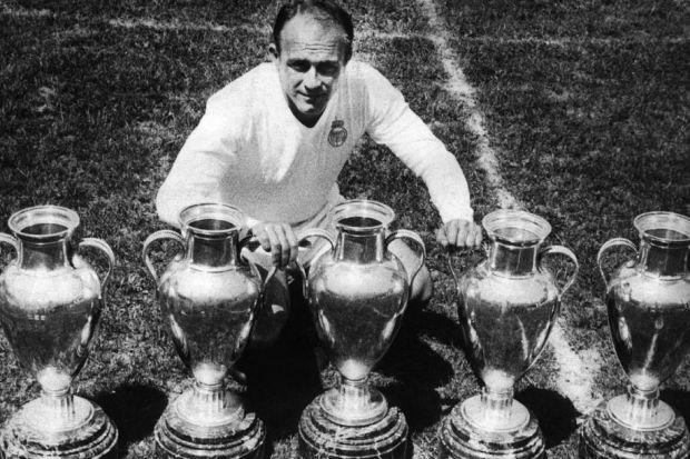 Alfredo di Stefano was one of only two players to take part in all five of Real Madrid's consecut