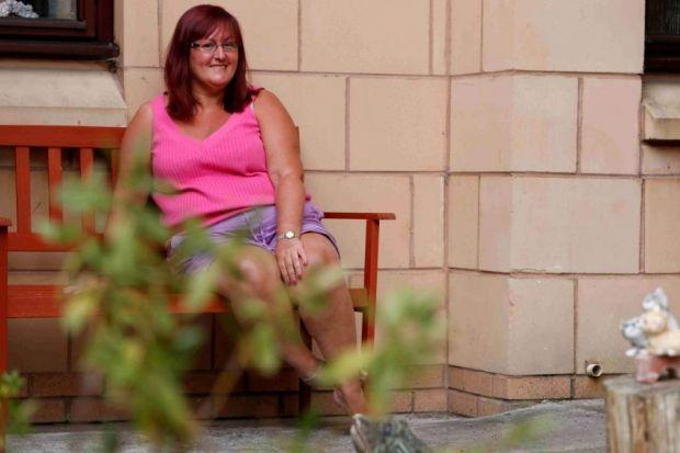 HOPE: Multiple sclerosis sufferer Angela Stirling, who has been successfully treated with chemotherapy, welcomed the use of the drug alemtuzumab.