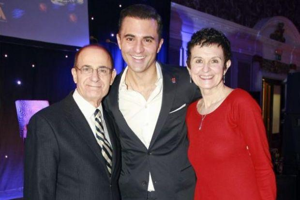 STAR LINK: Darius Campbell-Danesh with his parents.