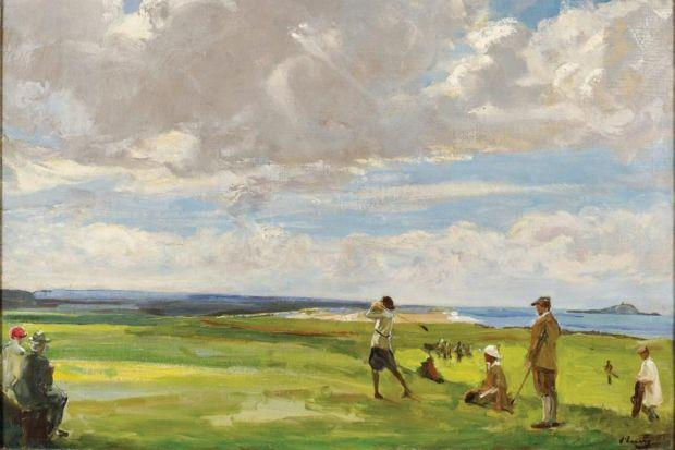 The exhibition at the Scottish National Gallery includes Charless Lees' The Golfers (1847) and The Golf Links, North Berwick by Sir John Lavery (circa 1921).