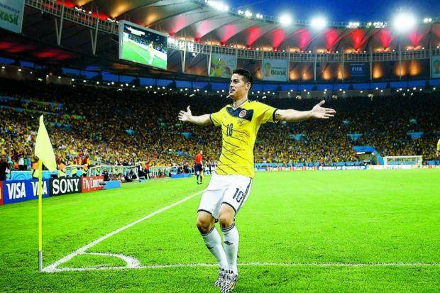 James Rodriguez lit up the World Cup with his goals   Photograph: Reuters