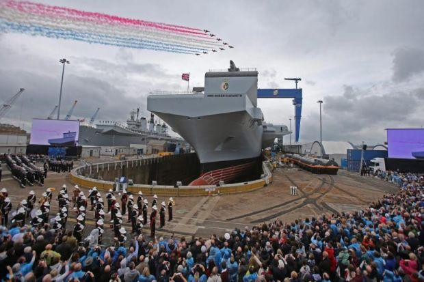 HMS  Queen Elizabeth was officially named at a ceremony in Rosyth earlier this monthPhotograph:  Gordon Terris