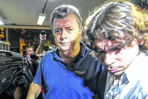 Police in Rio de Janeiro arrest Ray Whelan in connection with ticket-scalping offences. Picture: EPA