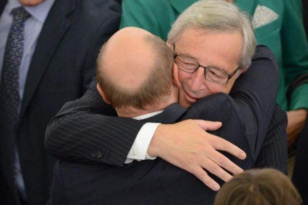 new MAN: European Commission President Jean-Claude Juncker on his first day in office. Picture: EPA