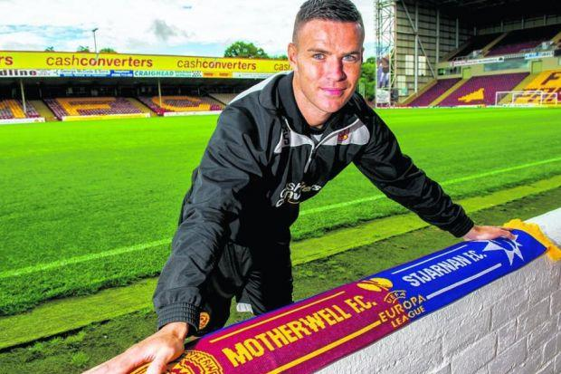 Simon Ramsden wants to rekindle memories of his Motherwell debut when he played against Panathinaikos in a                                         Champions League qualifier. Picture: SNS